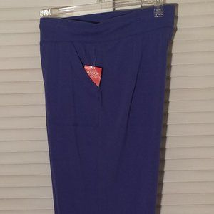 Purple Capri Knit Pants